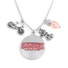 ZRM очень странные дела ожерелье с подвеской в виде буквы лампы Монстр велосипед Подвеска в виде мотоцикла ожерелья для женщин мужчин подарк...