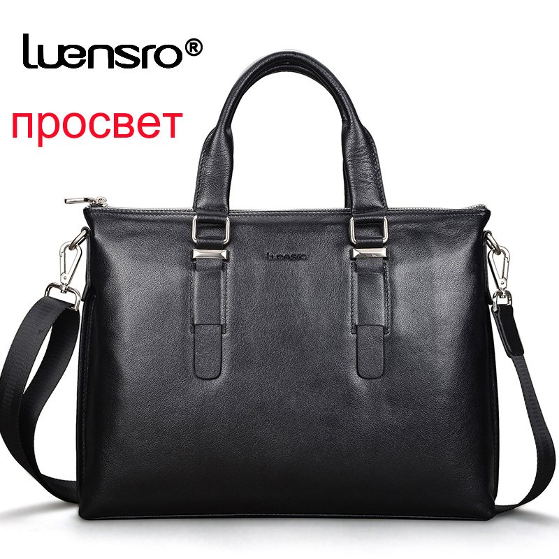 Briefcase Genuine Cow Leather Men Messenger Shoulder Bags High Quality Men's Briefcase Bag Business Handbag For Men Male Bag