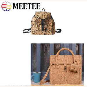 Image 5 - Meetee 200X137cm 0.5mm Thick Natural Cork Leather Fabric DIY Bags Shoes Luggage Handmade Craft Wood Grain Decor Material Supply