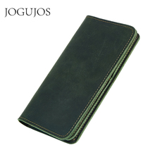 JOGUJOS New Genuine Leather Women Zipper Credit Card Holder Wallet Ladies Rfid Wallet Long Clutch Bag Coin Purse Portomonee credit card holder rose purse lady long real leather rfid wallet women clutch bag portfel key holder carteira flower coin purse