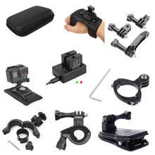 Action Camera For Go Pro Accessories Bicycle Motorcycle Helmet Bracket Mount Clip Arm Strap For Gopro Hero 9/8/7/6/5/4/3+ Black