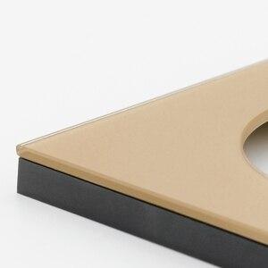 Image 4 - LED Licht 4 Kleur Schakelaar 1 2 3 4 Knop Wandschakelaar Luxe Crystal Glass Panel Switch Interruptor 16A Standaard
