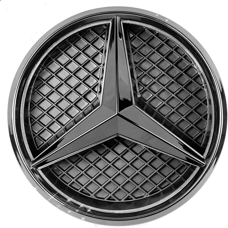 White LED Illuminated Logo Car For Mercedes Benz 2013-2018 A/B/C/CLS/E/GLK/GL/R Series Center Front Badge Lamp Light