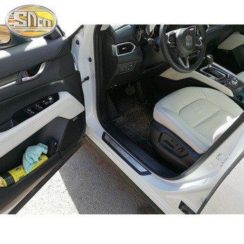 4 sztuk wysokiej jakości stal nierdzewna listwa progowa listwy progowe do samochodów pedał wykończenia próg próg drzwi dla Mazda CX-5 CX5 2017 #8211 2020 tanie i dobre opinie sncn Drzwi i linii Talii CN (pochodzenie) Na to etykiety Inne naklejki 3d Words STAINLESS STEEL For Mazda CX-5 CX5 2017-2020