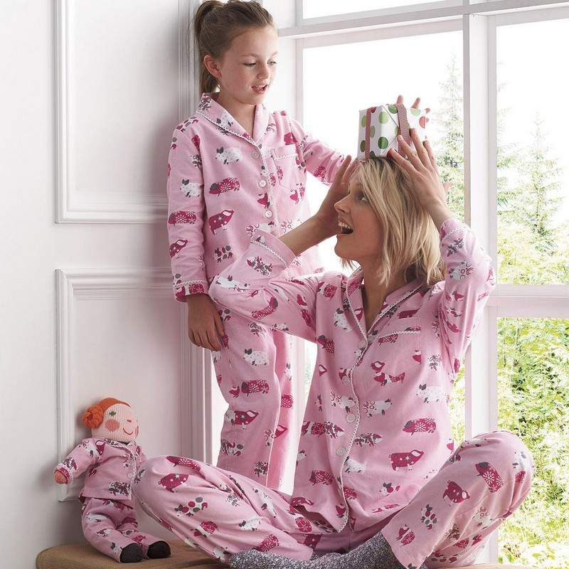 Mother Daughter Pajamas Mommy And Me Sleepwear Christmas Pajamas Sets Family Matching Clothes Outfits Look Nightwear Clothing