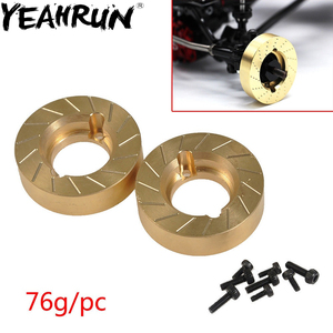 Image 1 - YEAHRUN Heavy Metal Internal Wheel Weights Turning Copper Counterweight For Axial SCX10 II 90046 90047 1/10 RC Car