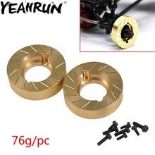YEAHRUN heavy metal wewnętrzne koła wagi toczenia miedzi przeciwwaga dla Axial SCX10 II 90046 90047 1/10 RC samochodów
