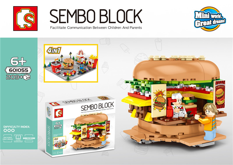 SD601055 58 MINI Straße Serie eis/hamburger/shop Bausteine Ziegel Kinder Pädagogisches Spielzeug Modell Geschenke-in Sperren aus Spielzeug und Hobbys bei  Gruppe 1