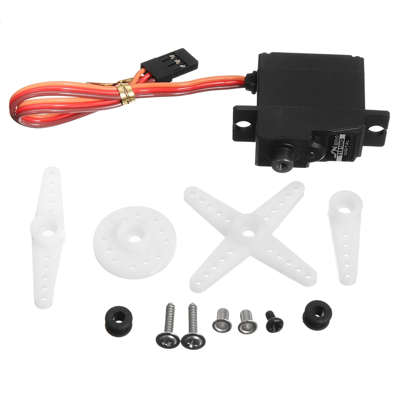 Upgrade Digital Servo Metal Steering Gear Pdi-1181Mg 17G 3.5Kg For Wpl Rc Car B1/16/24 C14/24 Helicopter Boat Airplane