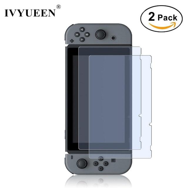 IVYUEEN Protector de pantalla de vidrio templado 9H Premium para Nintendo Switch NS, película protectora para Nintendo Switch, 2 uds.