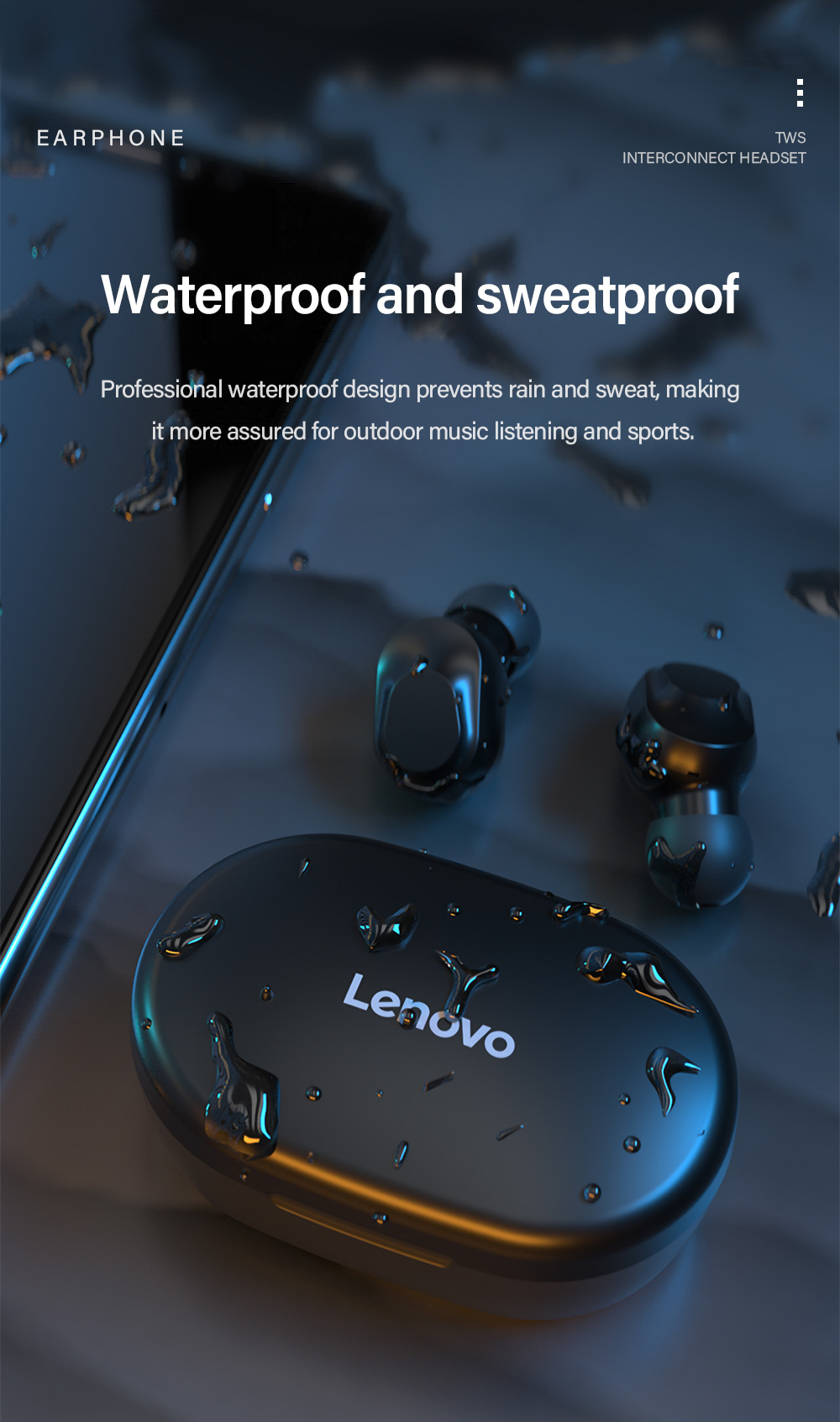 Lenovo XT91 TWS Earphone 8
