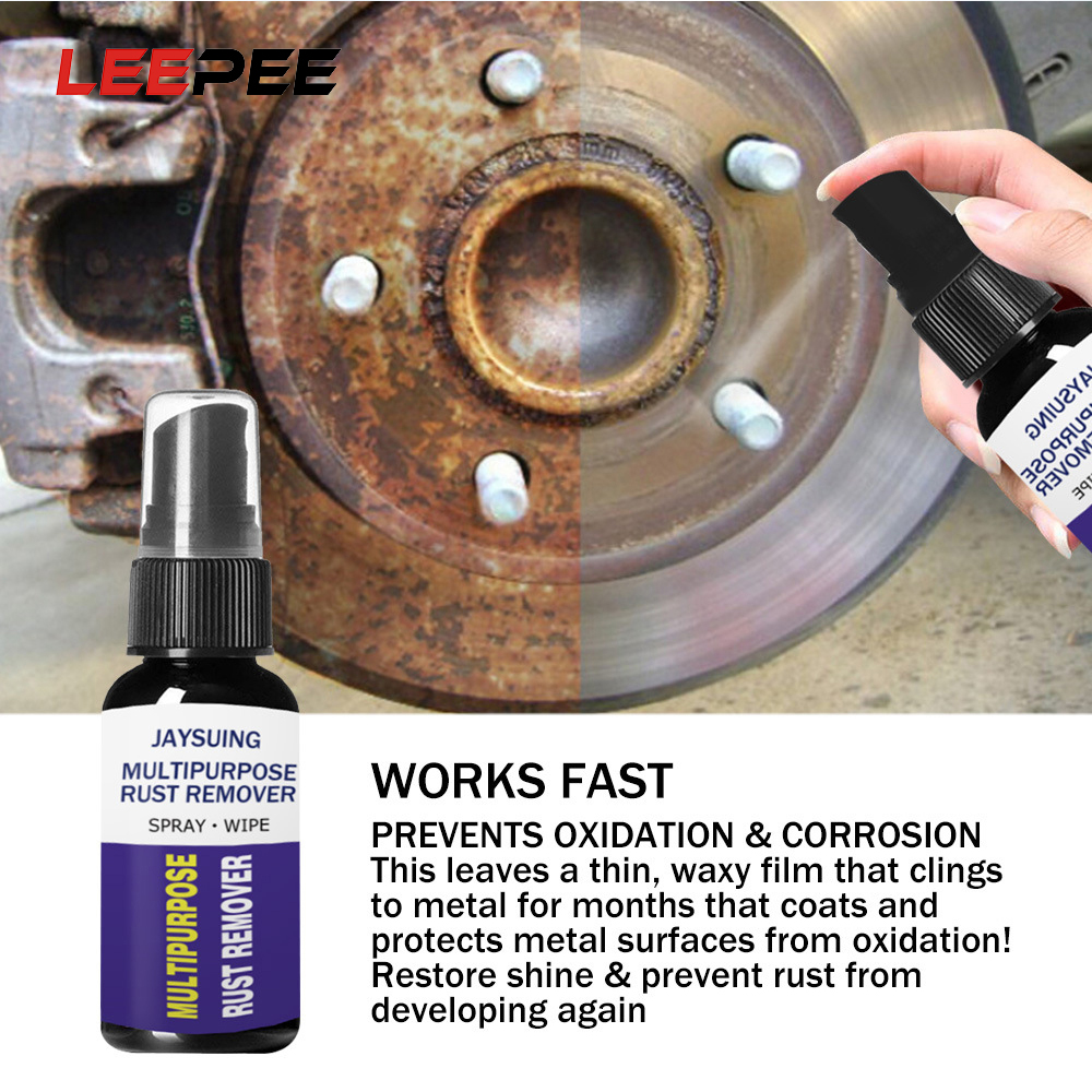 LEEPEE Car Rust Remover Metal Surface Chrome Paint Anti-rust Lubricant Derusting Spray Car Rust Inhibitor Maintenance Cleaning