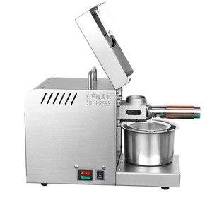 Image 4 - 110/220V 610W piedino Olio Per Uso Domestico in acciaio inox Olio di macchina della pressa di olio di Arachidi maker uso per di Sesamo /mandorle/Noce