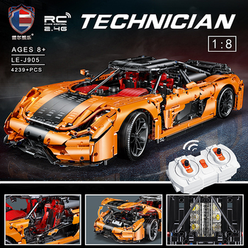 Technic series Orange koenigseggs Raceing Car Model Kit Building Blocks Toys For Children Compatible Lepining Bricks Gifts new 50pcs cross axle series bricks model building blocks toy boy technic parts children toys compatible with lego bricks