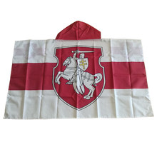 Belarus White Knight Flag Cape Coat of Arms of Belarus Body Flag Banner 3x5ft Polyester, Free Shipping