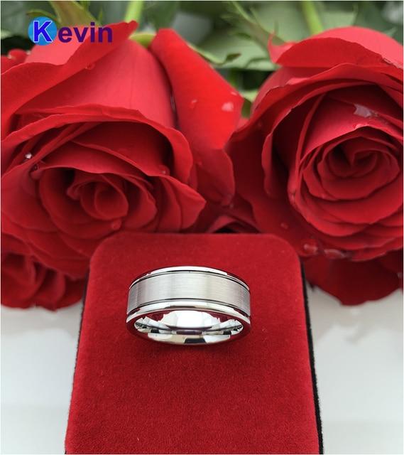 Черный вольфрамовый свадебный браслет с черной рифленой отделкой