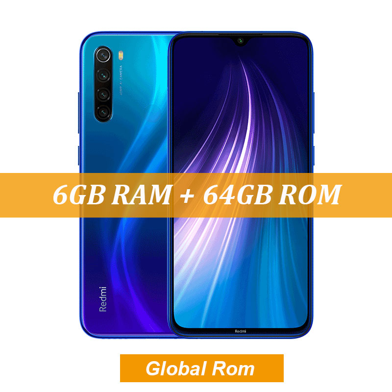 "New Global ROM Xiaomi Redmi Note 8 4GB 64GB 48MP Quad Camera Smartphone Snapdragon 665 Octa Core 6.3"" FHD Screen 4000mAh - Цвет: 6GB Blue"