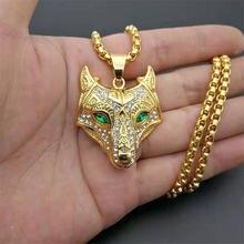 Мужское ожерелье из нержавеющей стали золотого цвета Викинг