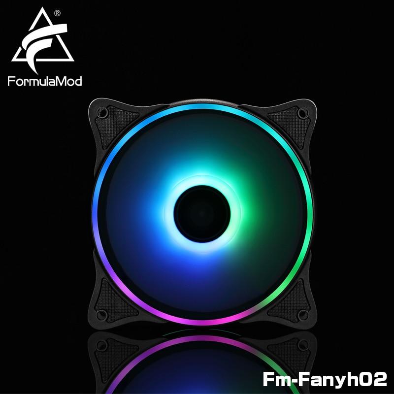FormulaMod Fm-Fanyh02 120mm PWM ventilateur 5v 3Pin RGB polyvalent radiateur refroidisseur hydraulique portant 9 lames de grande taille