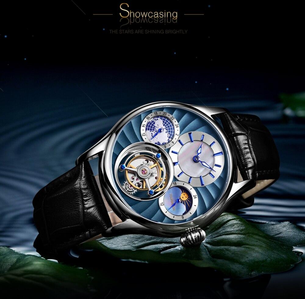 Original Tourbillon watch GUANQIN 2019 NEW clock men waterproof mechanical Sapphire leather top brand luxury Relogio Masculino 15