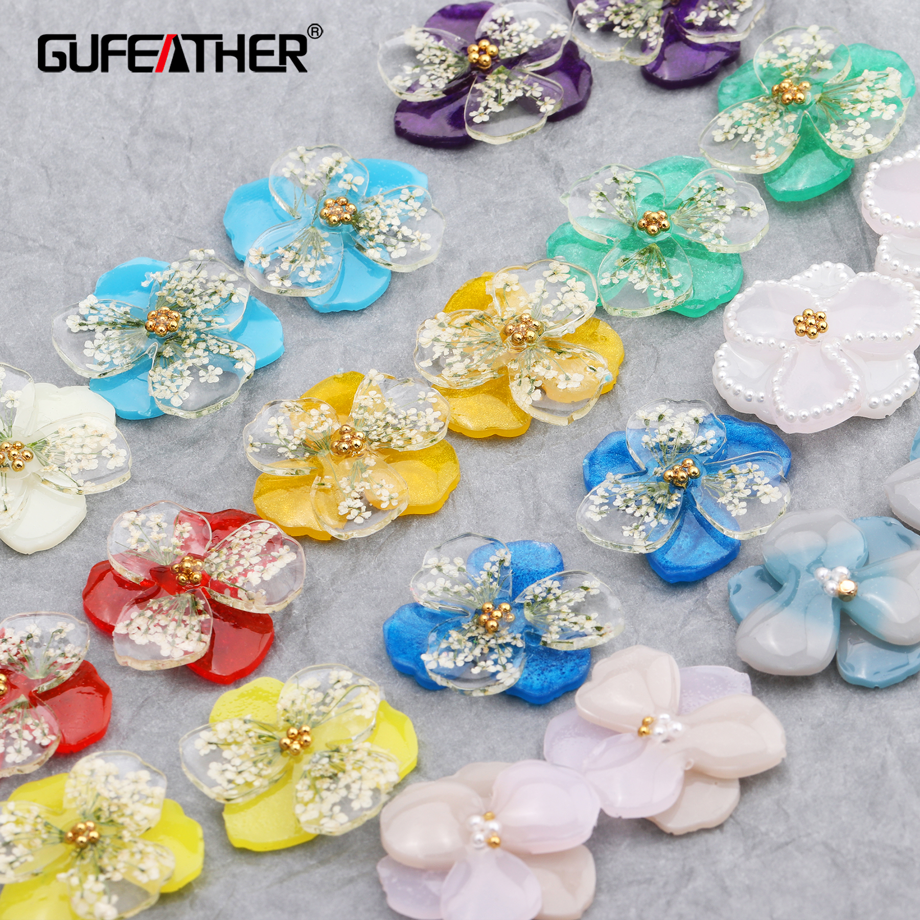 GUFEATHER M601,jewelry Accessories,diy Earring,dried Flower,jewelry Findings,diy Resin Pendant,hand Made,jewelry Making,4pcs/lot