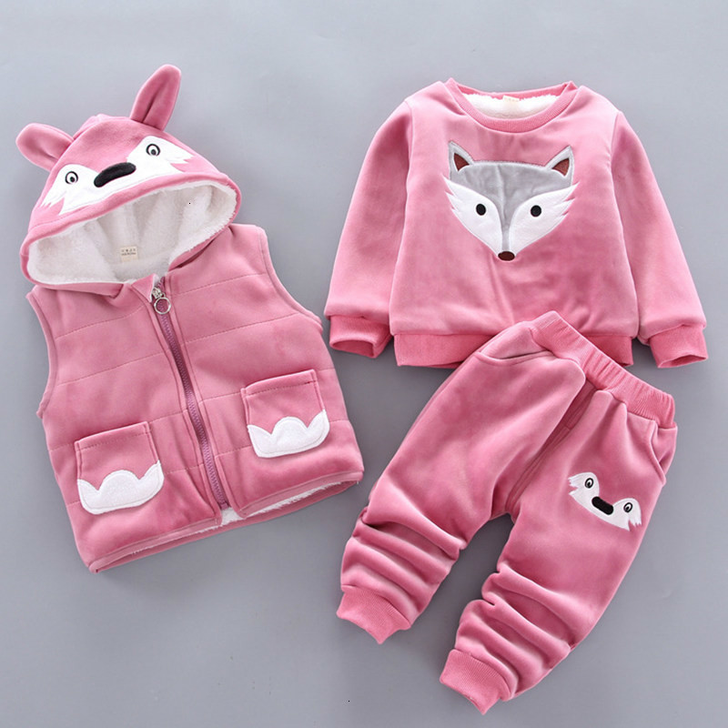 2020 Winter newborn infant boys girls baby clothes velvet tops pullover sweatshirt vest jacket pants outfits sport clothing sets