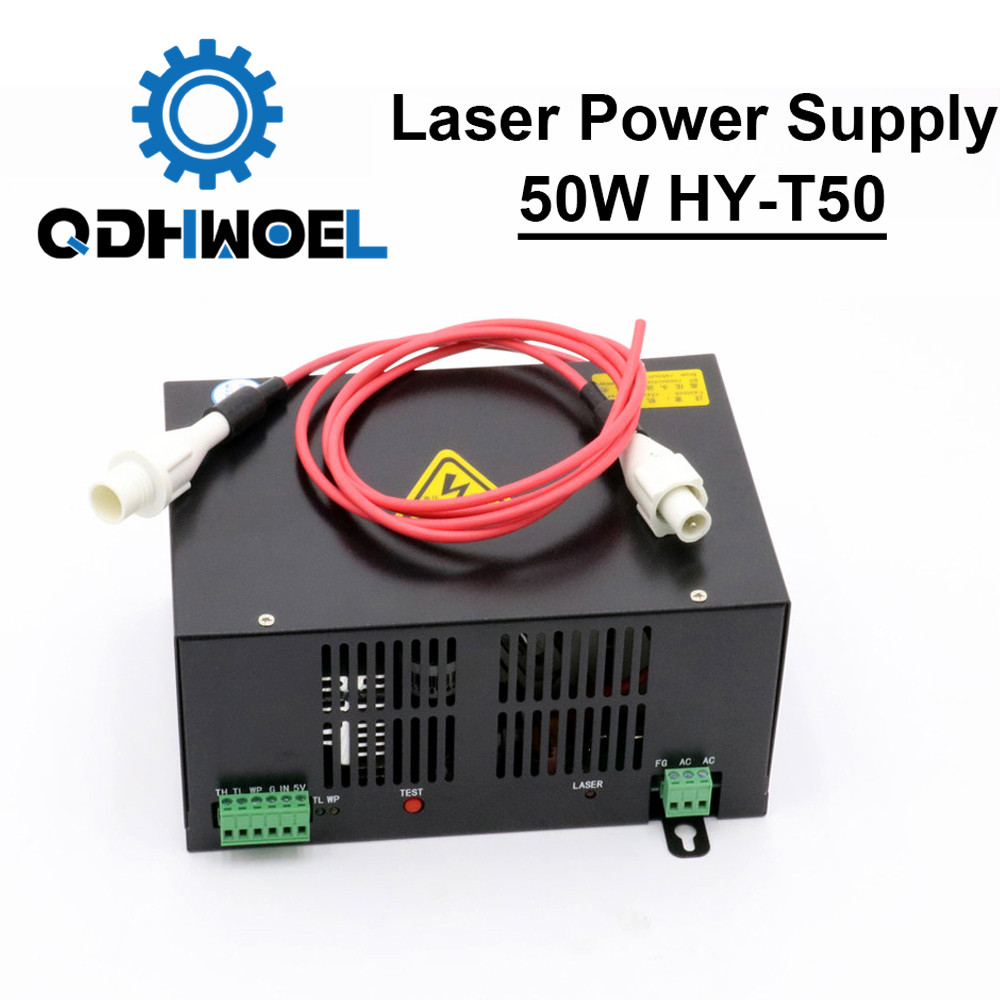 50W CO2 Laser Power Supply For CO2 Laser Engraving Cutting Machine HY-T50 T / W Series