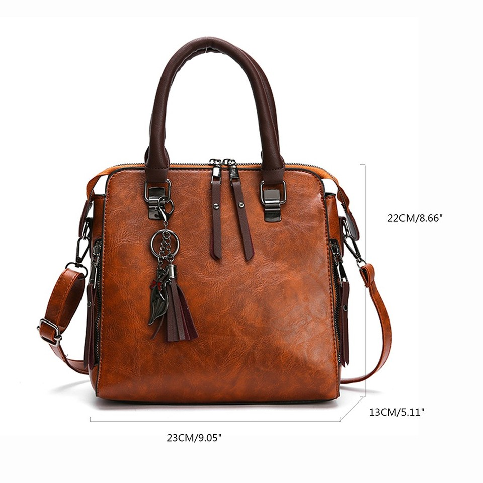 Vintage Women Travel Bag PU Leather Cross Body Messenger Bag Small Square Bag DL