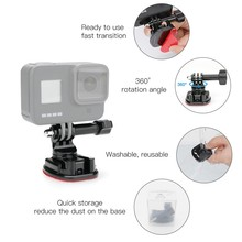 360 Degree Rotate Swivel Helmet Surface Buckle Strap Mount for Gopro 8 OSMO Action Pocket(China)