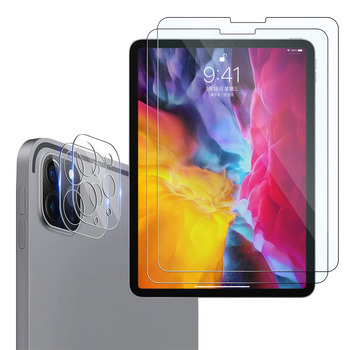 For 2020 iPad Pro 11 12.9 Metal Tempered Glass Screen Rear Camera Lens Film Protector Apple  - discount item  56% OFF Tablet Accessories