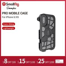 SmallRig Pro Mobile Gabbia per il iPhone X/XS Forma montaggio Vlogging Riprese Video Gabbia Con Fredda Shoe Mount  2414