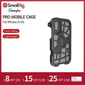 Image 1 - SmallRig Pro נייד כלוב עבור iPhone X/XS הדוק Vlogging וידאו ירי כלוב עם קר נעל הר 2414