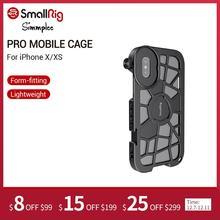 Smallrig pro gaiola móvel para o iphone x/xs forma encaixe vlogging gaiola de tiro de vídeo com montagem de sapata fria 2414