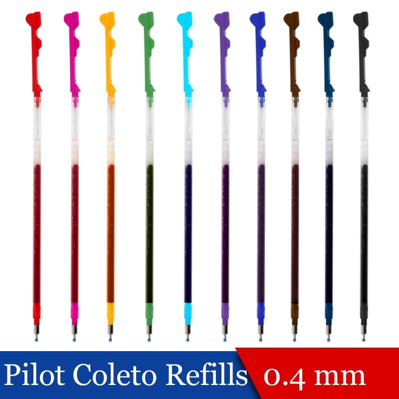 LifeMaster 6 pcs/lot pilote hi-tec-C Coleto Gel Multi stylo recharge 0.4mm noir/bleu/rouge/15 couleurs disponibles