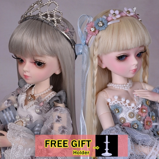 18 Movable Joints BJD Doll 1/4 With Full Outfits Wigs Shoes official Makeup Ball Jointed Dolls collection kids toys Christmas gi 1