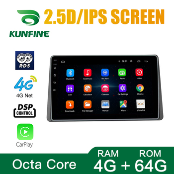 Octa Core Android 10.0 Car DVD GPS Navigation Player Deckless Car Stereo for Renault DUSTER 2018 2019 Radio Multimedia image