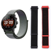 цена на Nylon Strap For Xiaomi Huami Amazfit Pace Stratos 2 2s Bracelet Watch Band 22mm Width Watchband