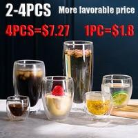 50-450ml tazza isolata a doppio strato antiscottatura e anti-freddo tazza di caffè tazza di latte tazza di bevanda coperchio di vetro coperchio di bambù trasparente