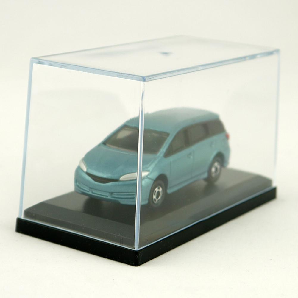 Acrylic Display Case For 1:64 Scale Car Dust-Proof Black Base Display Box For Diecast Model Toy Car