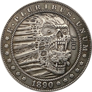 Хобо никель 1890-CC сша Морган доллар Монета КОПИЯ Тип 176