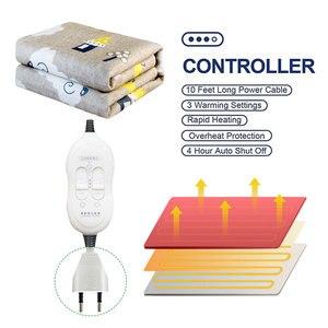 Image 2 - Elektrikli battaniye çift 220v sıcak ısıtıcı yatak termostat yumuşak elektrikli yatak ısıtıcılı battaniye isıtıcı isıtıcı halı abd ab