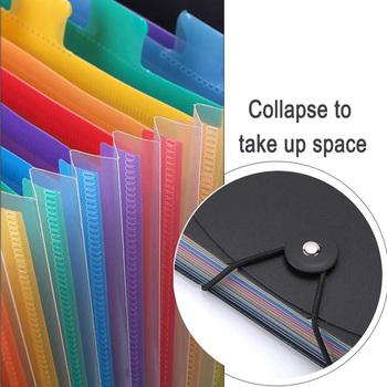 Kolorowe rozszerzenie pliku kieszenie na dokumenty Box 12 Folder papier biurowy Organizer wielofunkcyjny FKU66 tanie i dobre opinie CN (pochodzenie) Torba na dokumenty