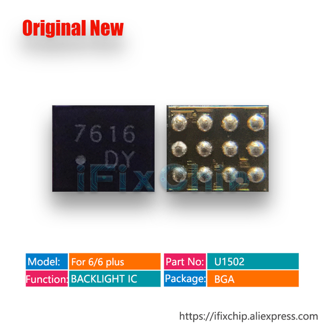 20pcs/lot backlight fix part U1502 for iphone 6/6plus/6 plus backlight IC chip U1580 12pins DY LM3534
