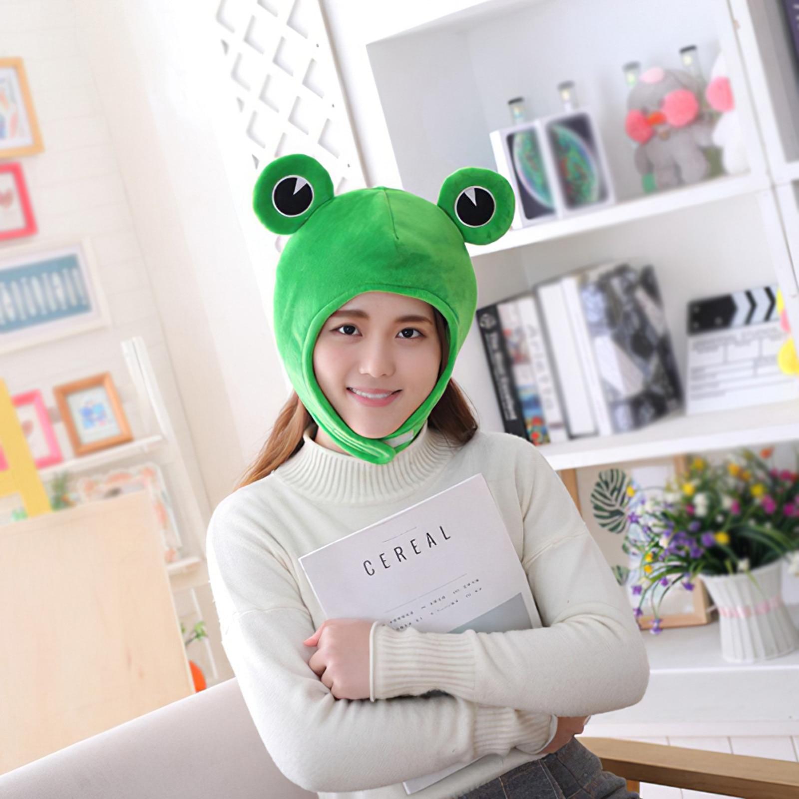 Cosplay Costume Cute Plush Frog Hat Scarf Cap Ear Korean Cartoon Warm Caps Winter Beanie Skull Headwear Novelty Party Dress Up