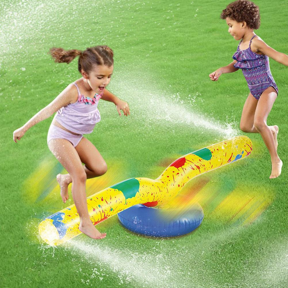 Kids Sprinkler Pad Mat Children Summer Outdoor Spin Water Splash Play Mat Lawn Inflatable Sprinkler Cushion Toy Goods In Stock