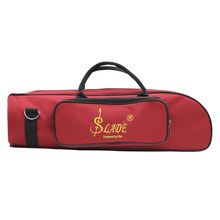 Trumpet Bag Case Carrying Handbag Cotton Interior Padded With Durable knitting Strap Red(China)