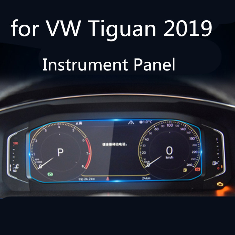 For <font><b>Volkswagen</b></font> for VW <font><b>Tiguan</b></font> L <font><b>2019</b></font> Car LCD Instrument Panel Screen Protector Tempered Glass Protective Film image