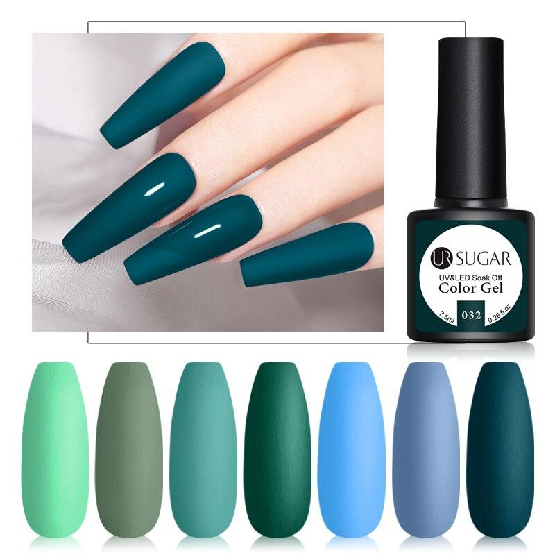 UR SUGAR матовый УФ-гель для ногтей светодиодный лак для ногтей зеленый синий Гель-лак длительного действия Гель-лак отмачиваемый Матовый верх...