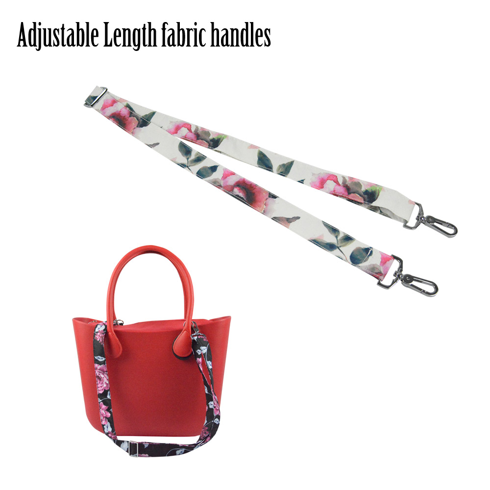 New 1 Piece Soft Floral Adjustable Length Handle With Buckle For Classic Mini Obag Handles For O Bag For Handbag Women's Bags