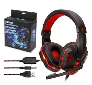 Auriculares con cable estéreo SY830, auriculares para juegos, para ordenador con micrófono, auriculares con cable para PS4/Xbox One/PC